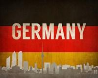 Berlin, Germany - Flags and Skyline Fine-Art Print