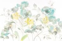 Aqua Roses Shadows Fine-Art Print