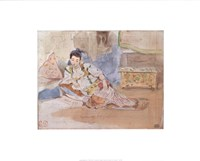 Arab Woman Seated Fine-Art Print