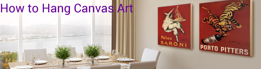 How to Hang Canvas Art