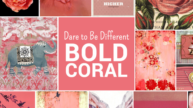 Bold Coral Artwork
