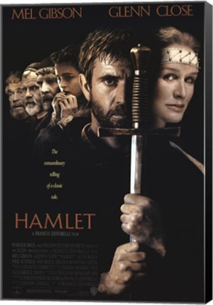 Framed Hamlet with a sword Print