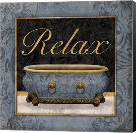 Framed Relaxing Bath Print