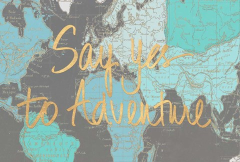 Framed Say Yes to Adventure Time Print