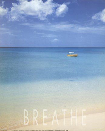 Framed Blue Seas of Barbados Print