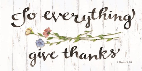Framed To Everything Give Thanks Print