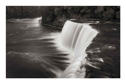 Framed Tahquamenon Falls Michigan I BW Print
