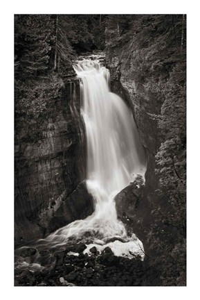 Framed Miners Falls Michigan BW Print