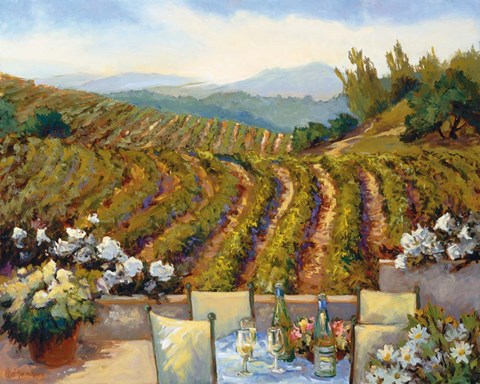 Framed Vineyards to Mount St. Helena Print