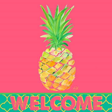 Framed Punchy Pineapple Welcome Print