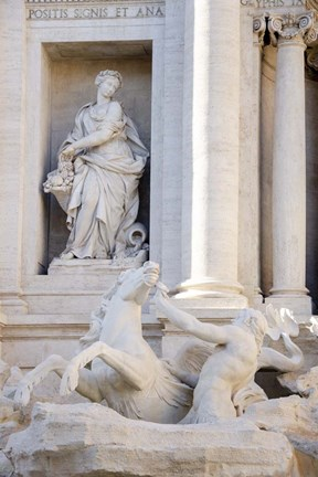 Framed Trevi Fountain in Afternoon Light II Print