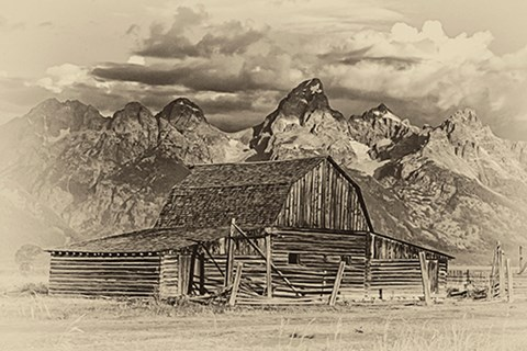 Framed Mormon Row Barn Print