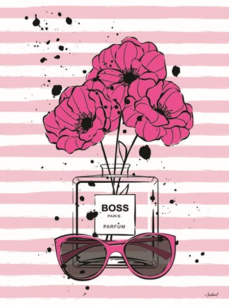 Framed Boss Flowers Print