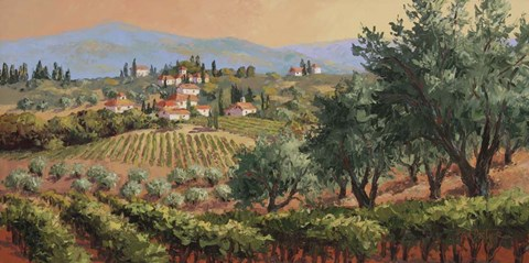 Framed Fruits of Tuscany Print