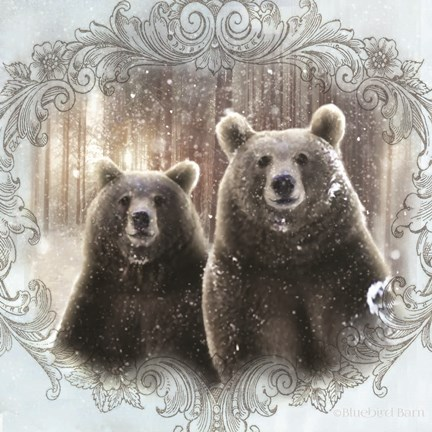 Framed Enchanted Winter Bears Print