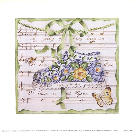 Framed Sweet Music II Print