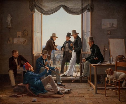 Framed Group of Danish Artists in Rome, 1837 Print