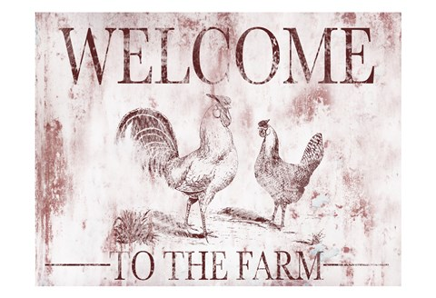 Framed Welcome Farm Print