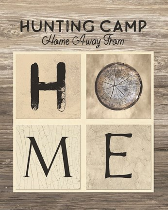 Framed Hunting Camp Home Away From Home Print
