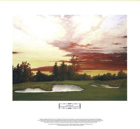 Framed Sundown at Winged Foot's 10th Print