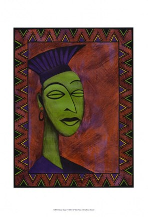 Framed African Beauty I Print