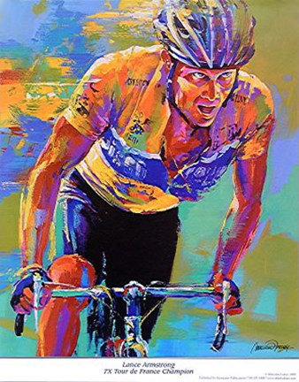 Framed Lance Armstrong - 7X Tour de France Champion Print