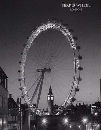 Framed Ferris Wheel, London Print