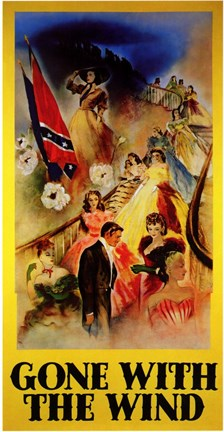 Framed Gone with the Wind - Clark Gable & Vivien Leigh on Stairs Print