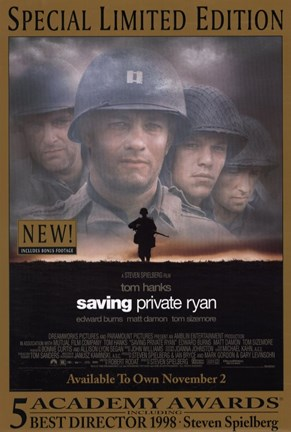 Framed Saving Private Ryan - Faces Print