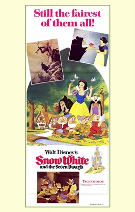 Framed Snow White and the Seven Dwarfs Movie Scenes Print