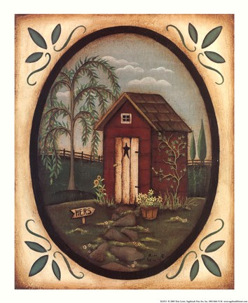 Framed Her Outhouse Print