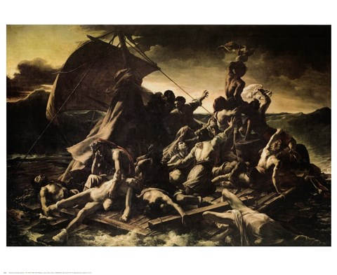 Framed Raft of the Medusa Print