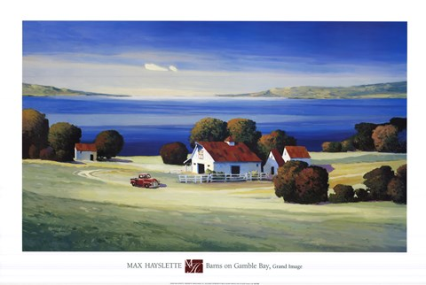 Framed Barns on Gamble Bay Print