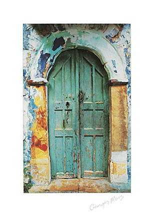 Framed Arched Doorway [white border] (19-1/2 x 27-1/2) Print