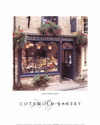 Framed Cotswold Bakery Print