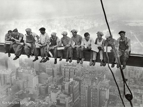 Framed Lunchtime Atop a Skyscraper, c.1932 Print