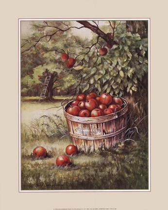 Framed Apple Orchard Print