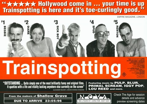 Framed Trainspotting - horizontal Print