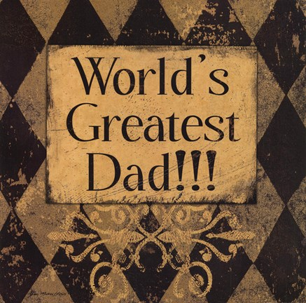 Framed Worlds Greatest Dad Print
