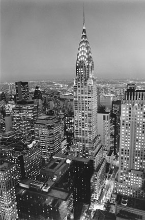 Framed New York, New York, Chrysler Building at Night Print