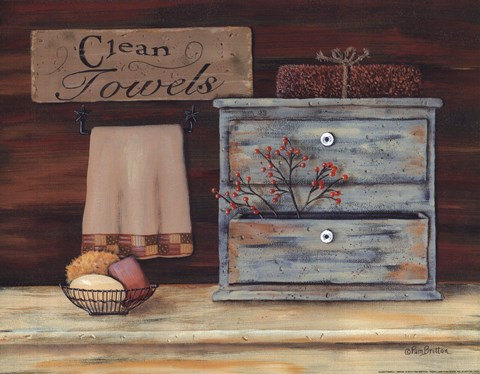 Framed Clean Towels Print
