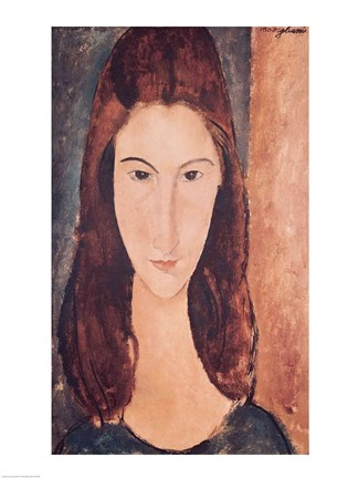 04cc3e21dd7 Portrait of a Young Girl Fine-Art Print by Amedeo Modigliani at ...