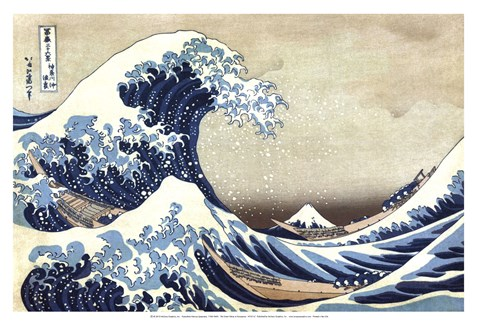 Framed Great Wave at Kanagawa Print