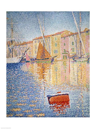 Framed Red Buoy, Saint Tropez, 1895 Print