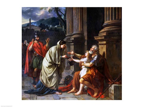 Framed Belisarius Begging for Alms, 1781 Print