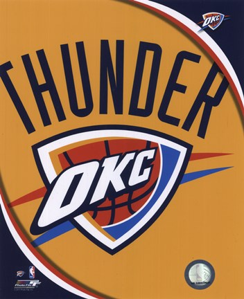 Framed Oklahoma City Thunder Team Logo Print