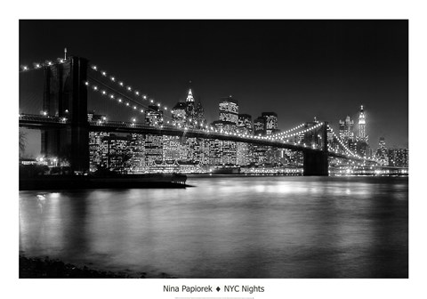 Framed NYC Nights Print