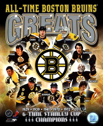 Framed Boston Bruins All-Time Greats Composite Print