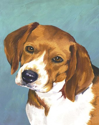 Framed Dog Portrait-Beagle Print