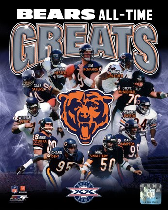Framed Chicago Bears All-Time Greats Composite Print